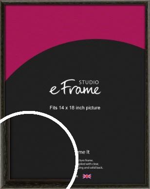Versatile Open Grain Black Picture Frame, 14x18