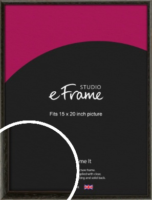 Versatile Open Grain Black Picture Frame, 15x20
