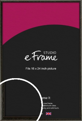 Versatile Open Grain Black Picture Frame, 16x24