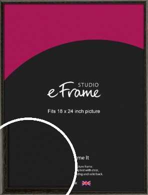 Versatile Open Grain Black Picture Frame, 18x24
