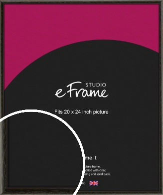 Versatile Open Grain Black Picture Frame, 20x24