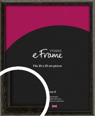 Versatile Open Grain Black Picture Frame, 20x25cm (8x10