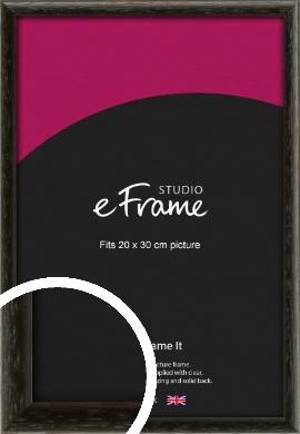 Versatile Open Grain Black Picture Frame, 20x30cm (8x12