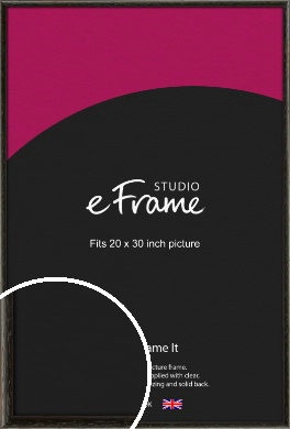 Versatile Open Grain Black Picture Frame, 20x30