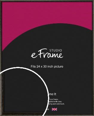 Versatile Open Grain Black Picture Frame, 24x30