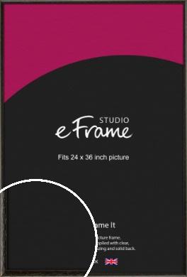 Versatile Open Grain Black Picture Frame, 24x36