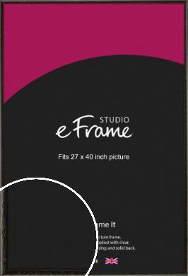 Versatile Open Grain Black Picture Frame, 27x40