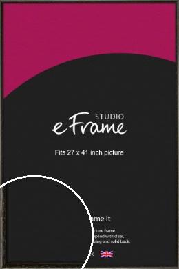 Versatile Open Grain Black Picture Frame, 27x41