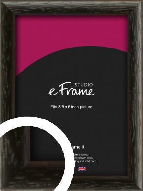 Versatile Open Grain Black Picture Frame, 3.5x5