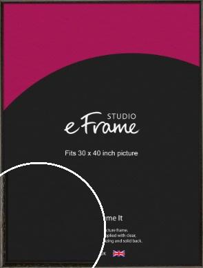 Versatile Open Grain Black Picture Frame, 30x40