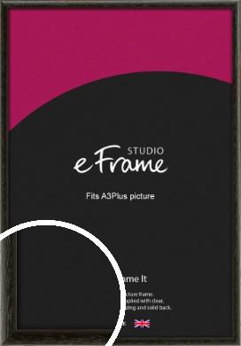 Versatile Open Grain Black Picture Frame, A3Plus (VRMP-137-329x483mm)