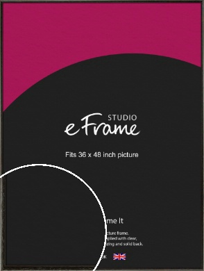 Versatile Open Grain Black Picture Frame, 36x48