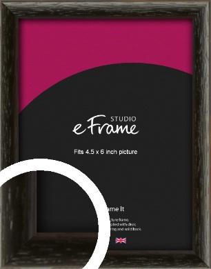 Versatile Open Grain Black Picture Frame, 4.5x6