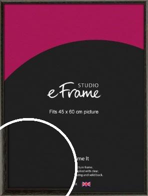 Versatile Open Grain Black Picture Frame, 45x60cm (VRMP-137-45x60cm)