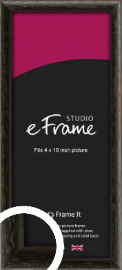 Versatile Open Grain Black Picture Frame, 4x10