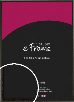 Versatile Open Grain Black Picture Frame, 50x70cm (VRMP-137-50x70cm)