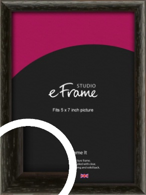 Versatile Open Grain Black Picture Frame, 5x7
