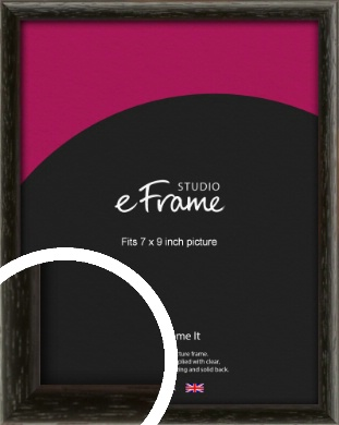 Versatile Open Grain Black Picture Frame, 7x9