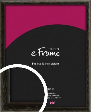 Versatile Open Grain Black Picture Frame, 8x10