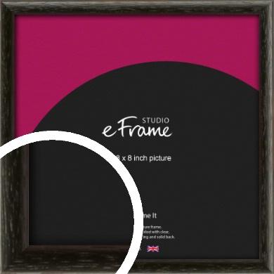 Versatile Open Grain Black Picture Frame, 8x8