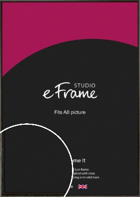 Versatile Open Grain Black Picture Frame, A0 (841x1189mm) (VRMP-137-A0)
