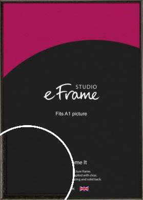 Versatile Open Grain Black Picture Frame, A1 (594x841mm) (VRMP-137-A1)