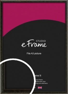 Versatile Open Grain Black Picture Frame, A3 (297x420mm) (VRMP-137-A3)