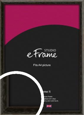 Versatile Open Grain Black Picture Frame, A4 (210x297mm) (VRMP-137-A4)