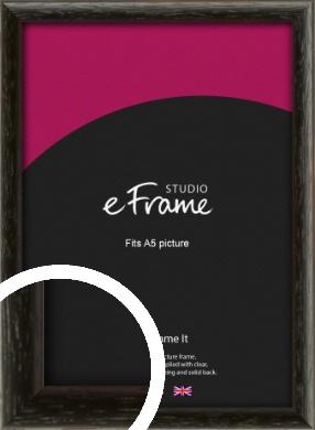 Versatile Open Grain Black Picture Frame, A5 (148x210mm) (VRMP-137-A5)