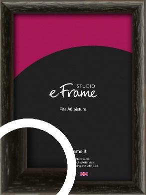 Versatile Open Grain Black Picture Frame, A6 (105x148mm) (VRMP-137-A6)