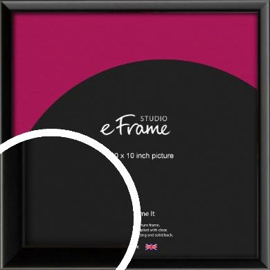 Narrow Sleek Painted Black Picture Frame, 10x10