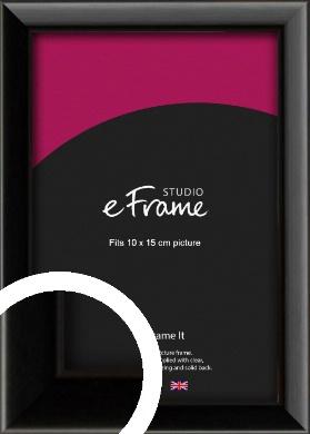 Narrow Sleek Painted Black Picture Frame, 10x15cm (4x6