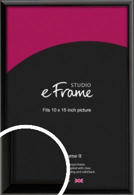 Narrow Sleek Painted Black Picture Frame, 10x15