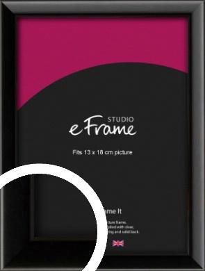 Narrow Sleek Painted Black Picture Frame, 13x18cm (5x7