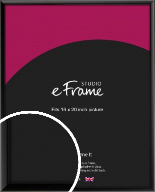 Narrow Sleek Painted Black Picture Frame, 16x20