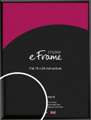 Narrow Sleek Painted Black Picture Frame, 18x24