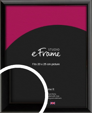 Narrow Sleek Painted Black Picture Frame, 20x25cm (8x10