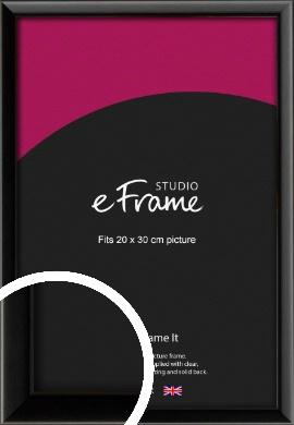 Narrow Sleek Painted Black Picture Frame, 20x30cm (8x12