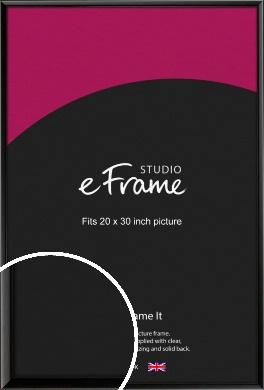 Narrow Sleek Painted Black Picture Frame, 20x30