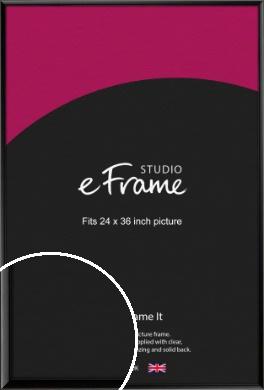 Narrow Sleek Painted Black Picture Frame, 24x36