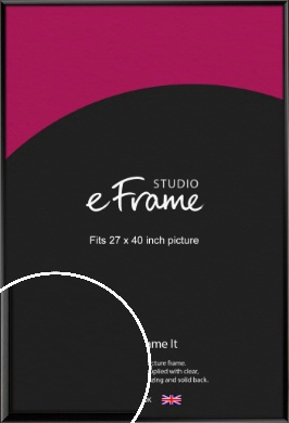 Narrow Sleek Painted Black Picture Frame, 27x40