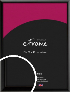 Narrow Sleek Painted Black Picture Frame, 30x40cm (VRMP-377-30x40cm)