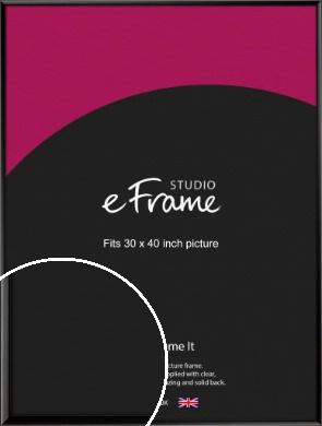 Narrow Sleek Painted Black Picture Frame, 30x40