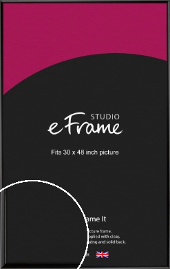 Narrow Sleek Painted Black Picture Frame, 30x48