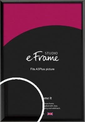 Narrow Sleek Painted Black Picture Frame, A3Plus (VRMP-377-329x483mm)