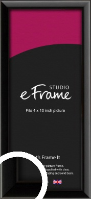 Narrow Sleek Painted Black Picture Frame, 4x10