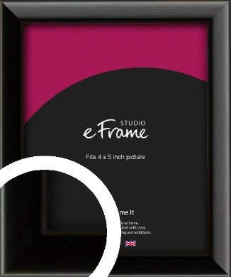 Narrow Sleek Painted Black Picture Frame, 4x5