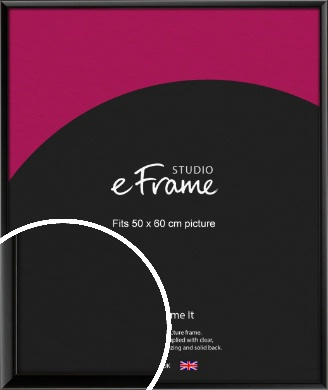 Narrow Sleek Painted Black Picture Frame, 50x60cm (VRMP-377-50x60cm)