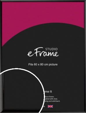 Narrow Sleek Painted Black Picture Frame, 60x80cm (VRMP-377-60x80cm)
