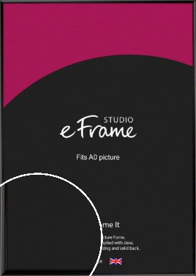 Narrow Sleek Painted Black Picture Frame, A0 (841x1189mm) (VRMP-377-A0)